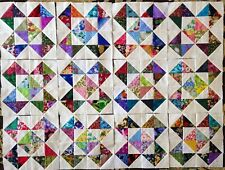 12Scrappy Crosses and StarsQuilt Blocks Top Cotton Fabric Squares made in Usa