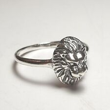 Lion Head Sterling Silver Ring Fashion Animal King Signet