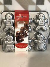 New listing Nordic Ware 86948 Gingerbread Kids Cakelet Pan
