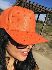 OSTRICH SKIN HAT GENUINE SKIN, SNAPBACK,FULLY LINING WE HAVE 10 COLORS; GIVALDI