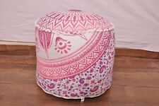Purple Indian Handmade Pouffe Ottoman Cover FootStool Floor Cushion Bean Bag UK