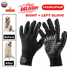 2 Pair Horse Pet Dog Grooming Gloves Brush Hair Remover Shedding Massage Cleaner