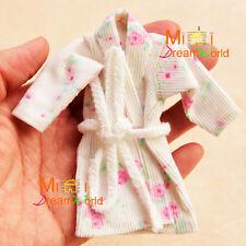 1/12 Dollhouse Miniature Toy Bathroom Bedroom Rose bathrobe nightgown