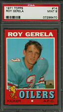 1971 TOPPS #14 ROY GERELA RC PSA 9 MINT HOUSTON OILERS ROOKIE (R) FOOTBALL