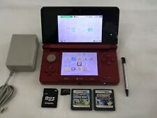 Nintendo 3DS Handheld System Flame Red,New Super Mario Bros,Sonic Colors,2GB SD