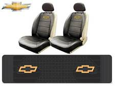 5 Pc Chevrolet Chevy Elite Synth Leather Seat Covers & Runner Rubber Floor Mat