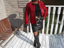 Nwot New Designer Bogner Cranberry calf Pony Fur Coat Bolero Jacket coat S 38 8