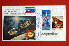 APOLLO SOYUZ SIGNED COVER  KUBASOV  LEONOV RARE ORIGINAL NASA RUSSIA SPACE 1975