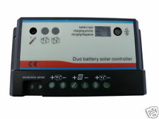 Dual Battery Solar Charge Controller 20A - 12V/24V