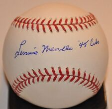 Lennie Merullo (Deceased) 1945 N.L. Champion Chicago Cubs Signed ML Baseball COA