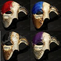 Phantom of the Opera Masquerade Mask - Venetian Mardi Gras Costume Half Masks