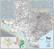 Texas Wall Map by True North Publishing