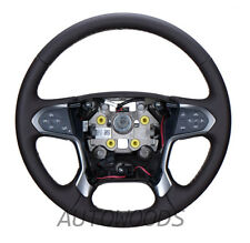 84053918 Chevy Silverado 1500 HEATED  LEATHER STEERING WHEEL Cocoa Brown 2014-17