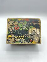 "Vintage Enticement Face Powder Milson Company Early Box Multi-Color Box 3 3/8"""