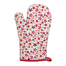 Red Daisy Single Oven Glove 100% Cotton