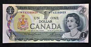 Canada 1973 $1 One Dollar Replacement, Lawson/Bouey, Prefix *FA, Ch.UNC