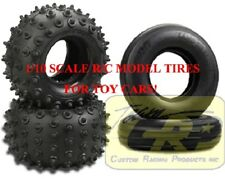 FRONT & REAR SPIKED TIRE SET Frog Hornet Sand Scorcher RC Tamiya 9805033 9805034
