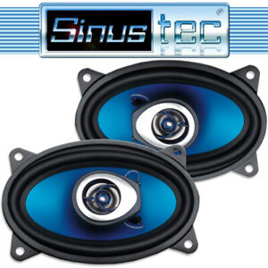 "Sinustec ST-150C 250 Watt 10x15cm ( 4x6"" ) oval PKW Lautsprecher Auto Boxen Paar"