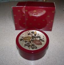 Vintage New Avon Imari Treasure Cache Trinket Jewelry Box Bowl Floral Lacquer