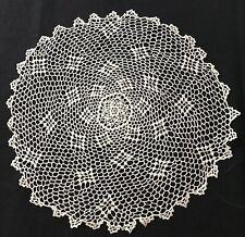 "Gorgeous Old Vintage Marvelous Cosmic Pattern Crochet Doily 10 1/2"" Dia,"