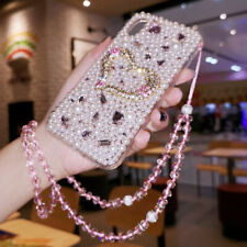 Bling pendant Crystal Glitter Diamonds Soft back Clear Cover Case For Sony Phone