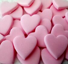 PRETTY PALE PINK HEARTS Valentines Wedding Sugar cake decoration topper