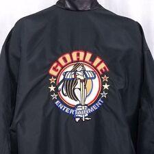 Goalie Entertainment Bomber Jacket Vintage 90s Adult Tony Nowak Custom USA 3XL