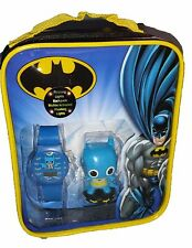 Batman Kid's Blue Digital Watch w/ Figurine in a Backpack BAT3079