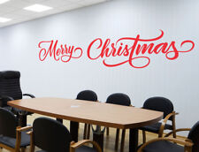 Merry Christmas X-mas Removable Vinyl Decal Wall Window Sticker Office Home Sign