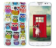 Hülle f LG L70 D320 Schutz Case Cover Tasche Bumper Etui Silikon TPU bunte Eulen