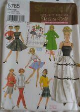 """Simplicity Archives Barbie Doll Sewing Pattern Blouse Pants Coat 5785 11½"""" Uncut"""