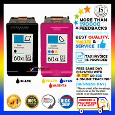 2x NoN-OEM INK CC641W CC644WN 60XL 60 XL for HP D1663 D5560 F2483 F4200 F4210