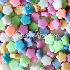 100 small Pastel Flower Beads for Kandi Rave Craft Kid Kawaii Pony Bracelet Cute