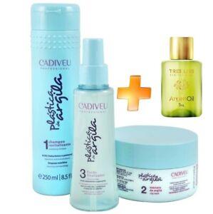 Kit Cadiveu Plastica de Argila - Brazilian Strengthening of Hair - 3 Products