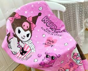 kuromi purple cotton bathing towel home hot swimming towels action new