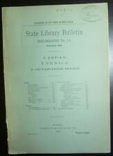 New York State Bibliography February 1898 6: Japan 7: Venice 8: Out-of-Door