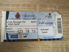 Ticket :  Club Brugge - KAA Gent 02-10-2010