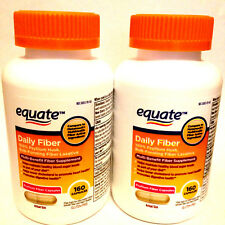 2 Equate 100% Natural Psyllium Husk Daily Fiber (320) Capsules Pills Laxative