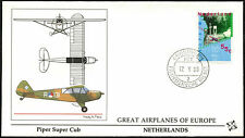 Netherlands 1988 Piper Super Cub, Great Airplanes Of Europe Cover #C42520