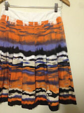 Animal Print Pleated Knee-Length Skirts for Women