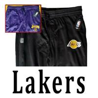 OFFICIAL NBA LOS ANGELES LAKERS FLEECE SWEATPANTS BLACK PURPLE PANTS XL 2XL