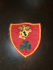 Vntg Marine Corps 3 Leaf Clover Korean War (?) Unit Unit Patch