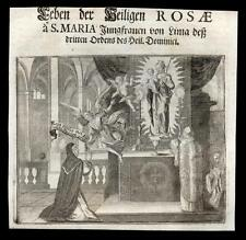 santino incisione 1600 S.ROSA DA LIMA