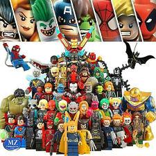 Minifigures super eroi heroes marvel dc comics custom compatibili compatibles