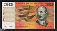 Australia. R-402F (1967) 20 Dollars - Coombs/Randall.. 1st Prefix XBQ..  gVF-aEF