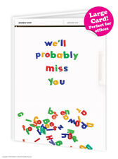 Leaving Work Job Bon Voyage Travel Goodbye Good Luck Large Card Funny Humour