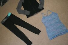 Lot of Girls Ivivva by Lululemon Tights,  Jacket and Tank sz 8