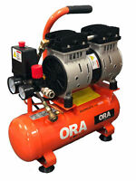 Compressore Aria Super Silenziato 480W 6 Lt Bicilindrico A Secco No Manutenzione