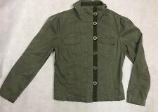 Per Una Khaki Military Style Jacket Size 12 Summer