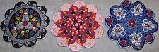 Defective Iznik Floral Pattern Turkish Ceramic Hot Plate Trivet Tile Set